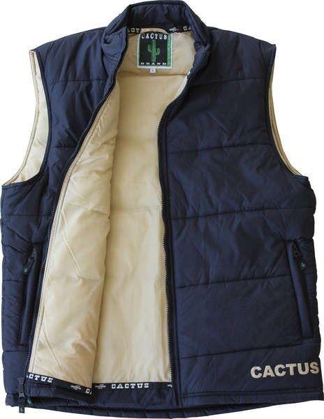 """Vest - Cactus Gear - Quilted Warm - Black - Khaki Size 2XL-54"""" around Chest"""