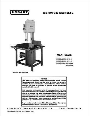 Hobart 5700 5700d 5701 5701d Meat Saw Service Pdf Manual