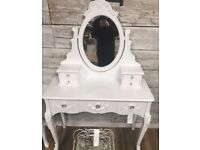 white brand new dressing table
