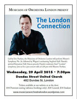 "Musicians of Orchestra London: ""London Connection"" Concert 4/29"
