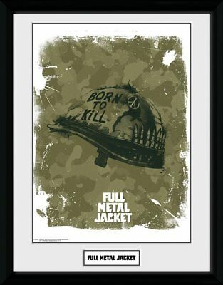Full Metal Jacket Helmet 30 x 40 cm Collector print superbe cadre collector !