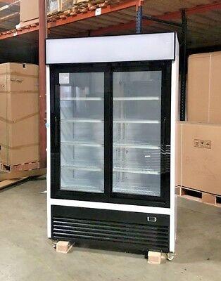 New 80 2 Sliding Glass Door Upright Refrigerator Gn2s Display Cooler Nsf Etl
