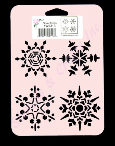 SNOWFLAKES STENCIL CHRISTMAS CRAFT PAINT COLOR ART TEMPLATE NEW BY STENSOURCE