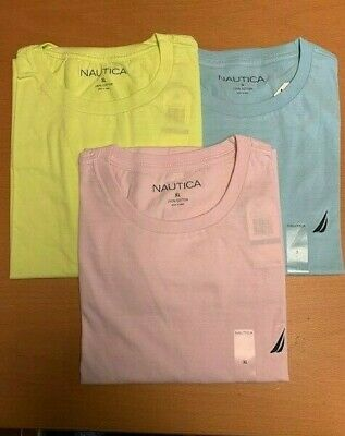 NEW-MENS NAUTICA CREW NECK SS T-SHIRT, ASST COLORS & SIZE, STYLE V61704 $18.50