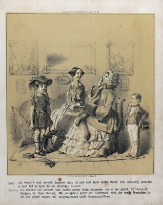 Bürgerliche Revolution 1848 Bürgertum Karikatur Knabe Kostüm Kasperl Kanone Mode