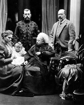 New 8x10 Photo: Queen Victoria with Future King Edward VII & Tsar Nicholas II