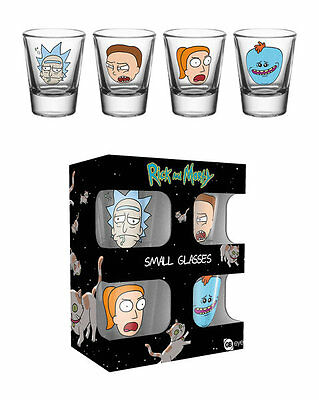 Rick and Morty Shot Glasses Set of 4