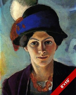 EARLY 1900'S WOMAN'S HAT FASHION WOMAN PORTRAIT PAINTING ART REAL CANVAS PRINT