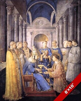 APOSTLE PETER ORDAINING A DEACON CATHOLIC PAINTING ART REAL CANVAS PRINT