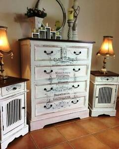 Shabby Chic Dresser & Bedside Tables - Sold pending pickup Upper Coomera Gold Coast North Preview