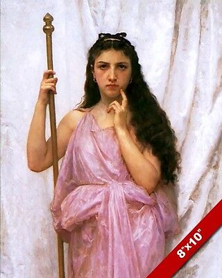 Roman Godesses (ROMAN TEMPLE GODESS VESTA VESTAL VIRGIN PAINTING ART REAL CANVAS)
