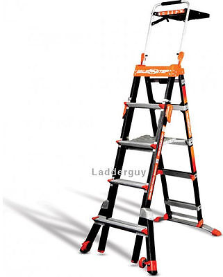 Little Giant Fiberglass Select Step Ladder 375lb Rated 5-8 Wairdeck 15130