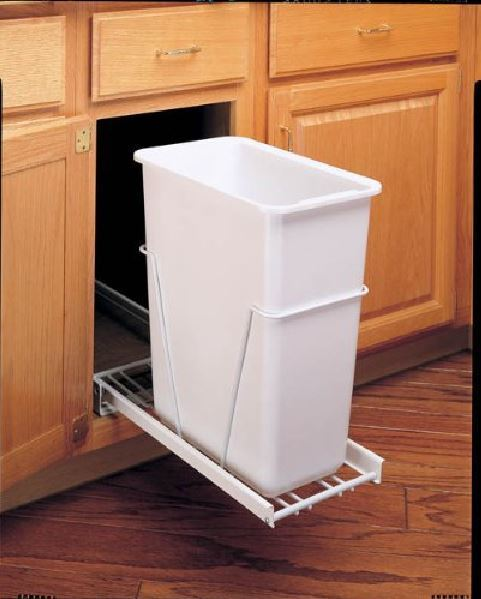30 Qt Pull-Out Waste Container Trash Bin Garbage Can Slider