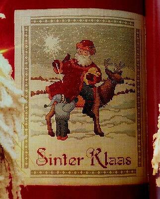 Cross Stitch CHRISTMAS St. NICHOLAS DAY Sinter Klaas DUTCH Santa Claus PATTERN   ()