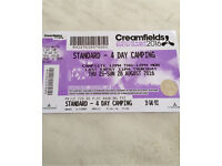 Creamfields Ticket - 4 day camping