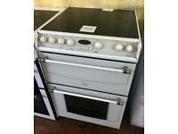 Belling Format 60cm White Double electric cooker in Excellent condition
