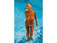 """Rolf Harris """"The Straw Hat"""" Giclee Canvas on Board Signed Limited Edition Print"""