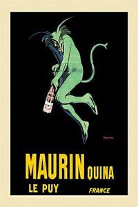 LEONETTO CAPPIELLO ~ MAURIN QUINA 24x36 ART POSTER Aperitif Wine Champagne Devil