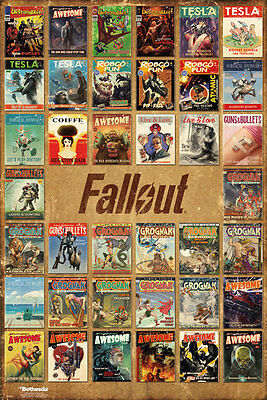 "FALLOUT 4 - GAMING POSTER / PRINT (MAGAZINE COVER COMPILATION) (SIZE: 24 x 36"")"