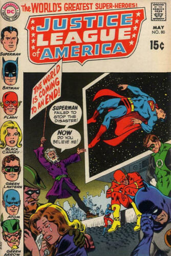 JUSTICE LEAGUE OF AMERICA #80 F, DC Comics 1970 Stock Image
