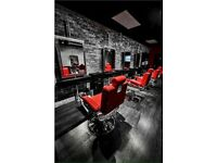Barber chairs. Salon chairs. Gents barber chairs. Red barber chairs