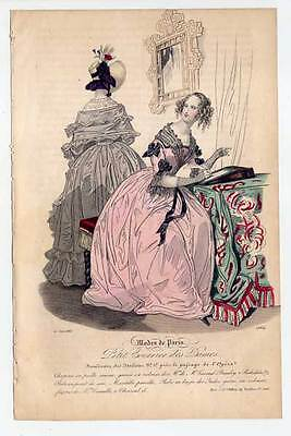 Mode-fashion print-Biedermeier - Stahlstich 1836 Petit Courrier des Dames