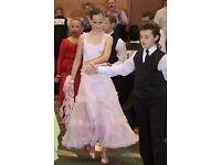 SFG27PK New Children Kid Girl Ballroom Smooth Latin Rhythm Dance Dress Costume