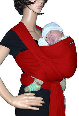 IN Babytragetuch Babytrage Bauchtrage Stretch - Rot (Sonnenschein Tragen)