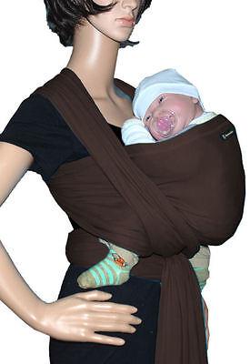IN Babytragetuch Babytrage Bauchtrage stretch - braun (Sonnenschein Tragen)