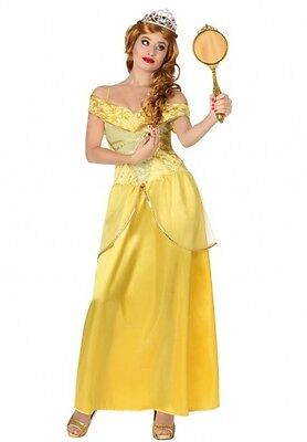 Costume Woman PRINCESS Yellow XL 44 Conte Fairy Drawing Cartoon NEW cheap - Cheap Adult Fairy Costume