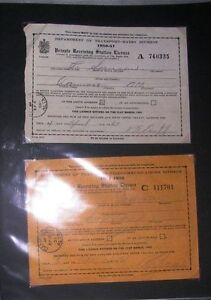 Antique radio licenses 1928 -1953 Edmonton Edmonton Area image 5