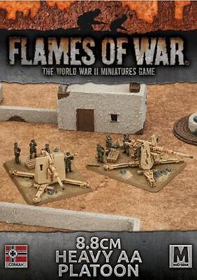 Flames Of War WWII German Afrika Korps 8.8cm Heavy AA Platoon 2Plastic BFMGBX98