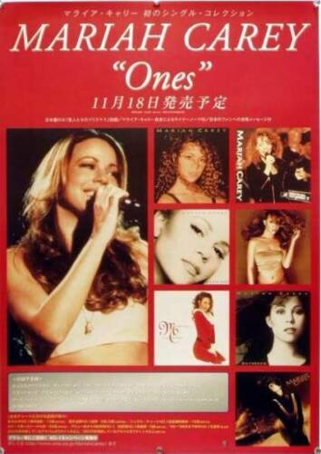 MARIAH CAREY /  CD Ones Single Collection  Promotion Poster