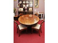 20% OFF ALL ITEMS SALE- Victorian Tilt Top Dining Table & 4 Balloon Back Chairs- Can Deliver For £19