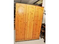 20% OFF ALL ITEMS SALE - 3 Door Pine Wardrobe - Can Deliver For £19