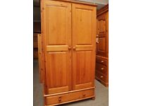 XMAS SALE NOW ON!! - Pine Wardrobe With Drawer - Can Deliver For £19