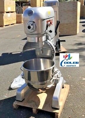 New 40 Quart Mixer Machine 3 Speed Commercial Bakery Kitchen Equipment Nsf Etl