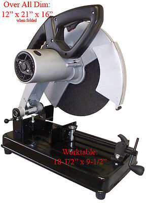2.5hp 14 Cut Off Miter Metal Saw Chop Metal Abrasive 3500rpm Free Shipping