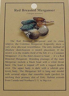 HAT PIN LAPEL PINS RED BREASTED MERGANSER DUCK