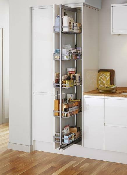 Howdens full height pull out larder unit kitchen in for Tall kitchen base units