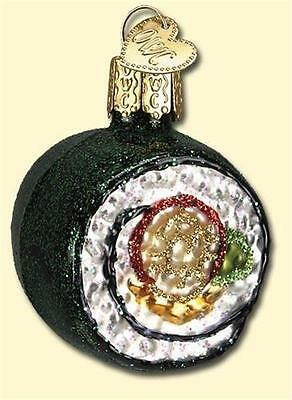 Glass Sushi - SUSHI ROLL OLD WORLD CHRISTMAS GLASS CHINESE ASIAN  FOOD ORNAMENT NWT 32110