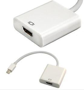 Mini Display Port Male to HDMI Female Adapter for Apple & Microsoft Windows PC Laptops