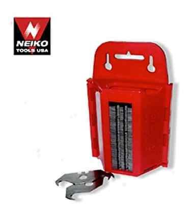 Hook Carpet Shingle Razor Blades with dispenser - 100 Pack NEIKO