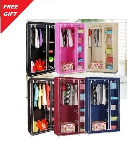 BROWN Double Door Folding Wardrobe Cupboard Almirah available at Ebay for Rs.1550