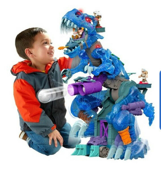 Imaginext T-Rex Ultra Ice Dinosaur in Blue Brand New in Box