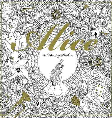 Alice In Wonderland Art Therapy Anti Stress Coloring Book
