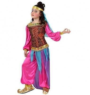 Kostüme Film Zeichen (Kostüm Mädchen Prinzessin JASMINE 10/11/12 Jahre Zeichnung Zeichentrick- film)