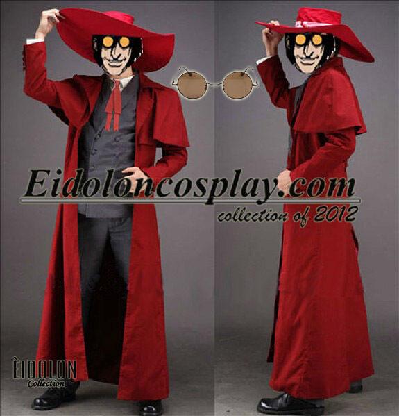 EE0083AA Hellsing Alucard Cosplay Costume with glasses