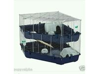 Used two tier corner rabbit cage