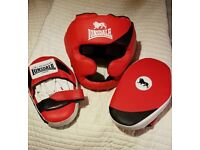 Boxing Head guard and pads